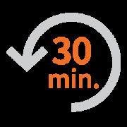 看護師の時間を一日平均30分節約